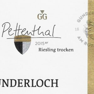 Gunderloch Pettenthal Riesling GG - Jg. 2015