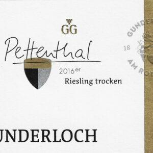 Gunderloch Nierstein Pettenthal Riesling Grosses Gewächs - Jg. 2016